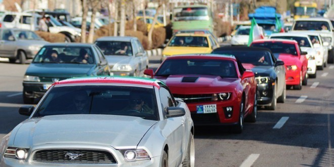 American muscle cars parade 2015