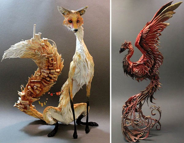Artist Combines Plants And Animals To Create Magical Sculptures