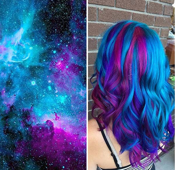 Galaxy Hair Trend Is Out Of This World