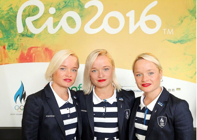 Estonian triplets head to Olympics Rio 2016