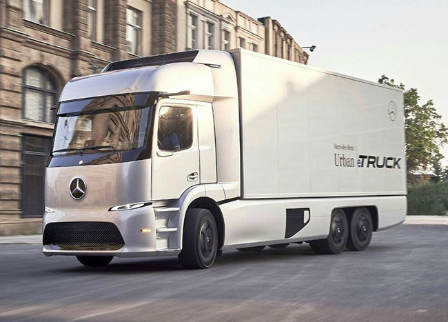 New designed Mercedes Urban eTruck Concept has 200 km electric range