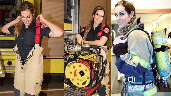 "The Norwegian Hot Firefighter "" Gunn Narten"" is 30 Years old"