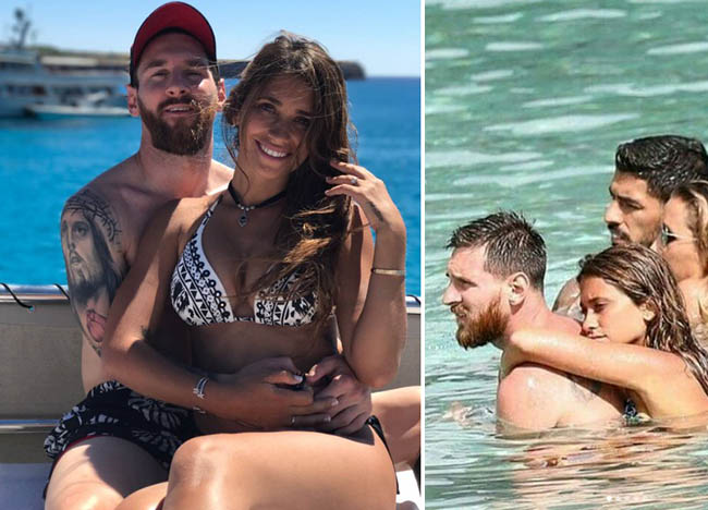 Lionel Messi and his wife Antonella are enjoying their honeymoon in Ibiza