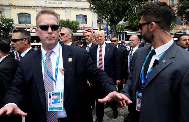 Trump's bodyguard TEAM