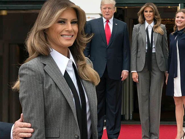 Melania Trump greet Trudeaus at White House