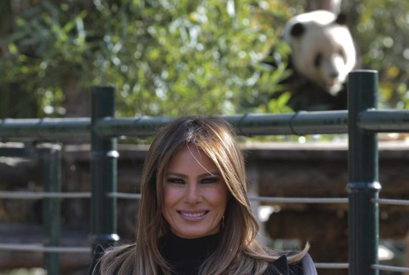 panda Gu Gu cap meet-and-greet  Melania Trump's China trip