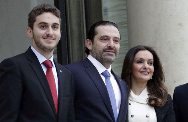 EMMANUEL Macron welcomes Lebanon's Hariri to Elysee Palace