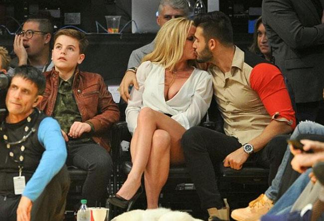 "Britney Spears and her boy friend "" Sam Asghari"""