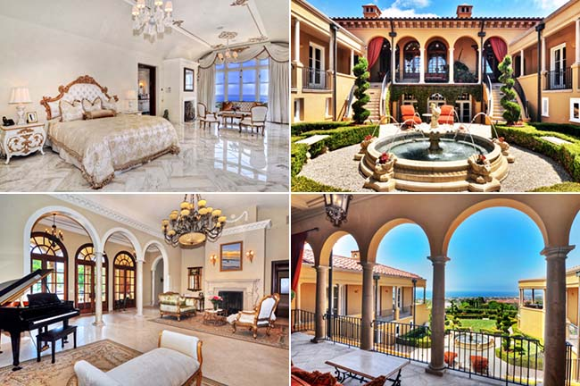 8 luxury mansions of the richest Iranian in U.S & UK