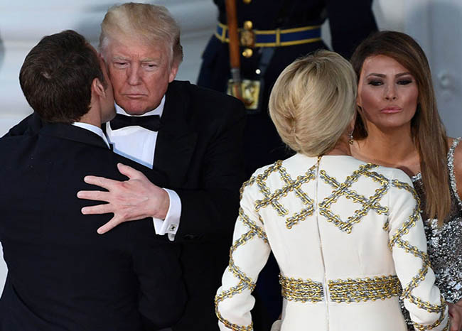 Trump's first state Luxury dinner held in honor of French President Macron