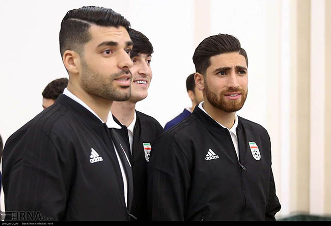 Team Melli PLAYERS VISITED THE PRESIDENT