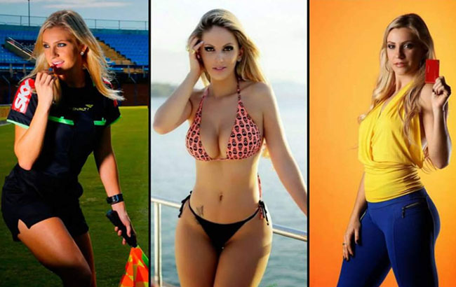 THE BEAUTIFUL football referee FOR HER BEAUTY WILL BE IN RUSSIA 2018