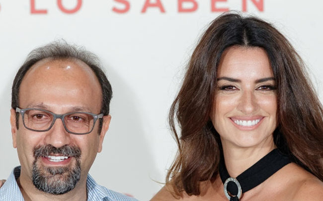 Oscar Winner Director Asghar Farhadi of  Todos Lo Saben at Madrid Photocall