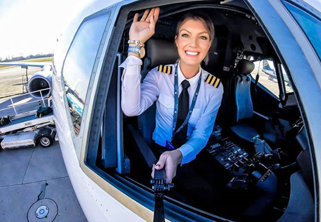 Maria Pettersson became the most beautiful Pilot in the world