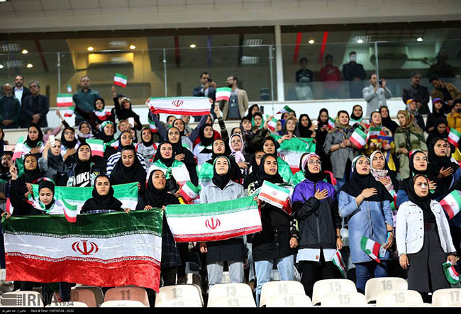Football Female Fans finally could enter into the Main Stadium