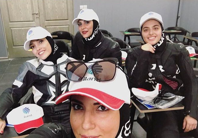 Opening of Female Motor Race by Actresses
