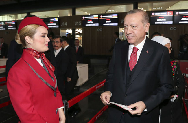 Opening of World's biggest Airport in Turkey by Erdogan
