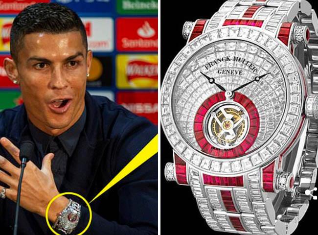 Cristiano Ronaldo shows off incredible £1.2M diamond watch