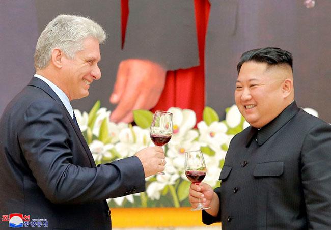 Cuban president meets North Korea's Kim Jong Un