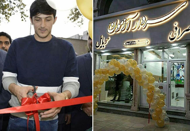Sardar Azmoun has opened his travel agency and money exchange