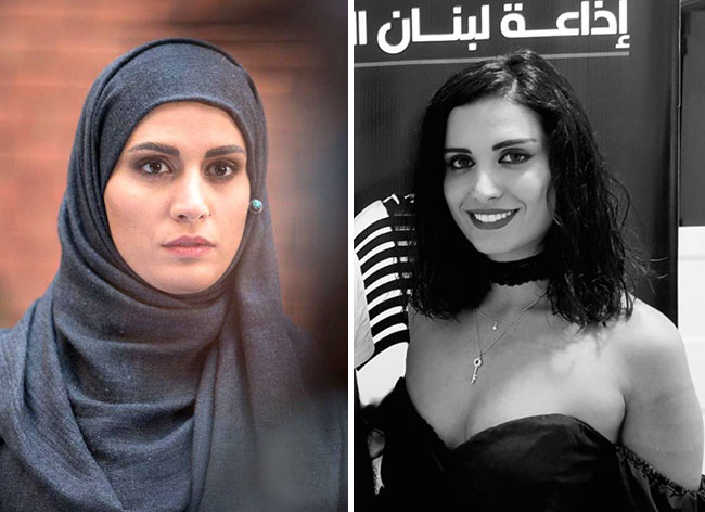 "The Lebanese Actress ""Anne Marie Salameh"" acting in a TV-Serie in homeland"