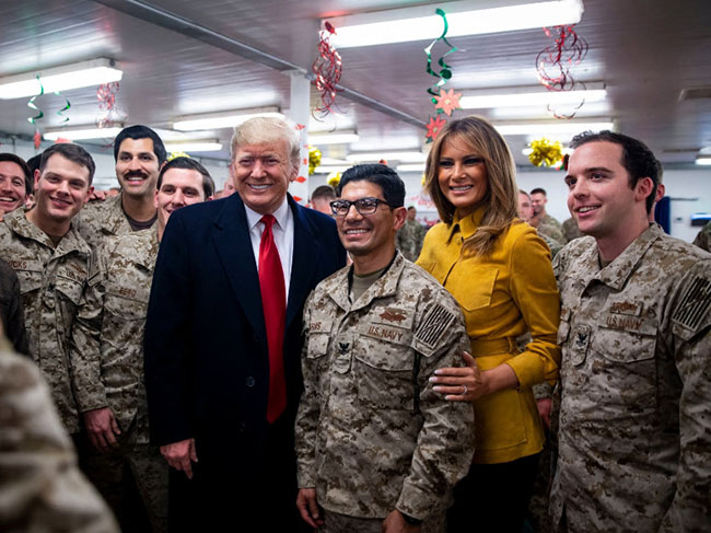 President Trump & Melania have made an unannounced visit to Iraq