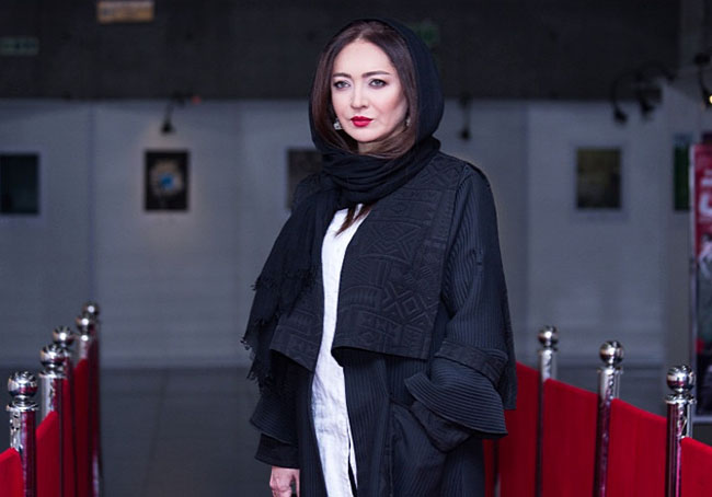 Niki Karimi on The red Carpet of The movie