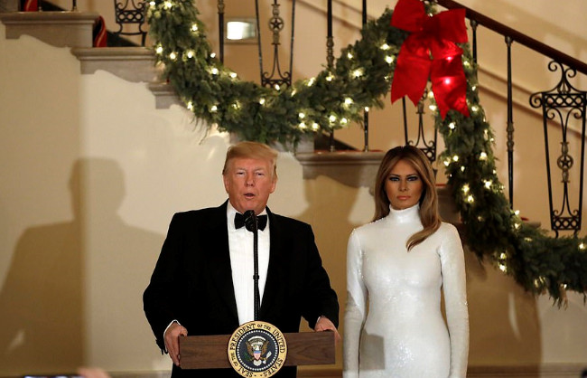 Melania's White Christmas style in white