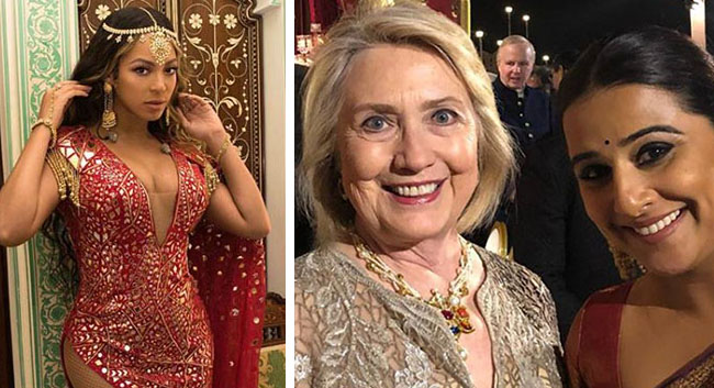 Beyonce and Hillary Clinton arrive in India At Billionaire Wedding