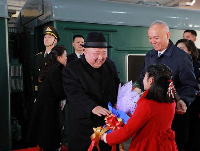 North Korea's Kim Jong-un takes train to Beijing