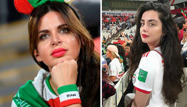 Female Fans of Team Melli on Asian Cup 2019