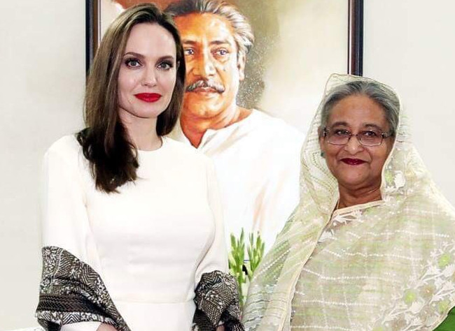 Angelina Jolie praises Hasina as 'exemplary' leader