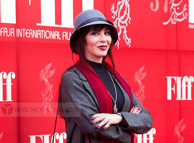 The 58 Years Old Afsaneh Bayegan on a red carpet at FIFF