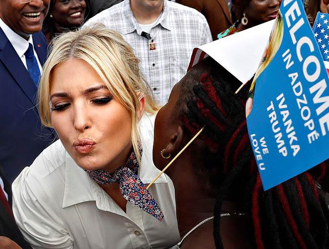 Ivanka Trump visiting in Africa
