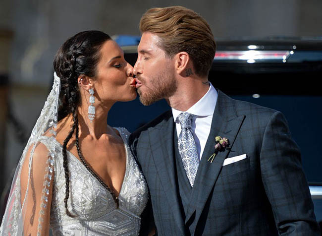 Real MadridSergio Ramos and Pilar Rubio's wedding