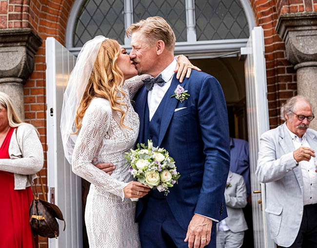 Man Utd legend Peter Schmeichel, 55, marries a former Playboy model, 46, Laura von Lindholm