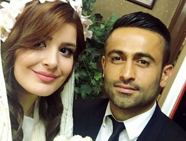 "The team Melli Player ""Omid Ebrahimi"" getting married"