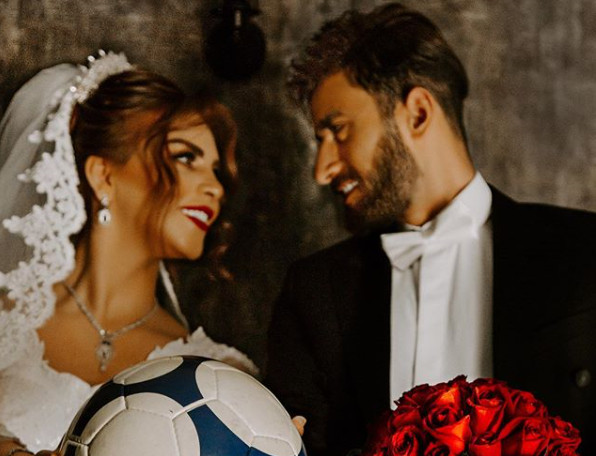 "The football player ""Ali Gholizadeh"" getting married"