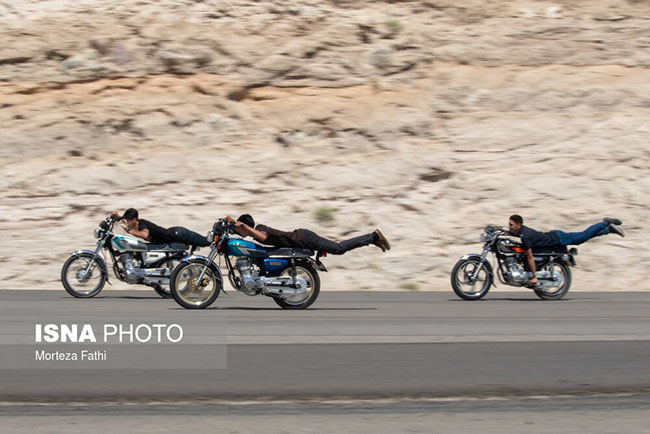 Motorcycle hooliganism in Tabriz