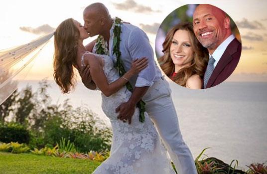 Dwayne 'The Rock' Johnson 47 Years old marries Lauren Hashian in Hawaii