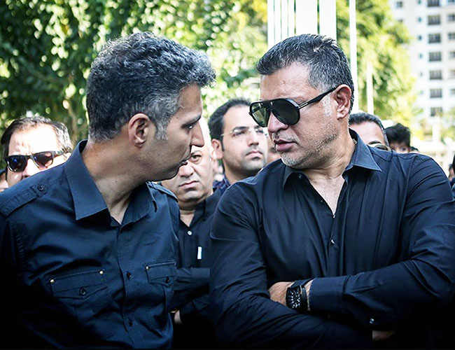 Adel Ferdosipour attends in a Reporter funeral