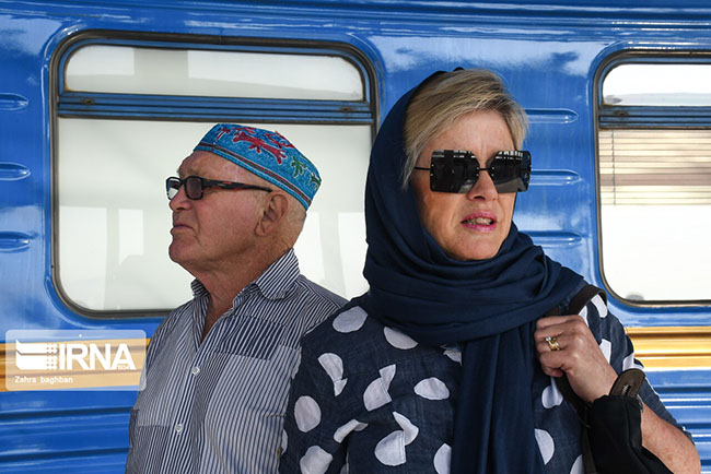 Foreign Tourists by Golden Eagle Luxury Train in Isfahan