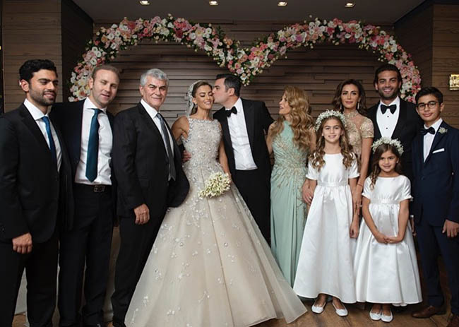 T. Frangieh and L. Zeidan Celebrated Historical Wedding in Ehden