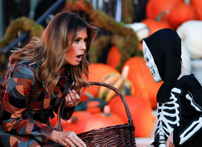 Donald Trump and Melania Try to Give Out Halloween