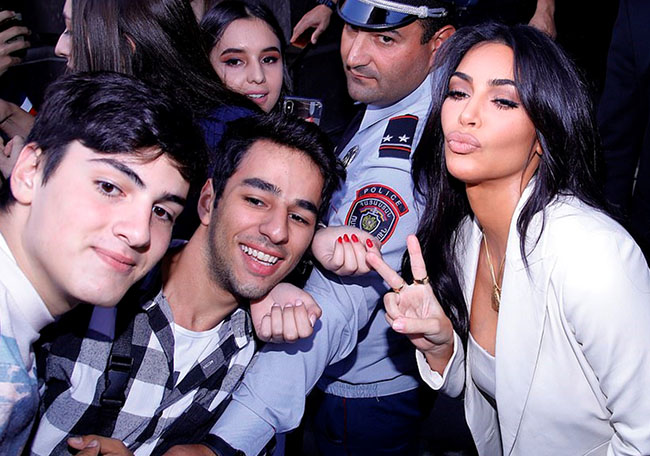Kim Kardashian Brings All Her Kids To Armenia