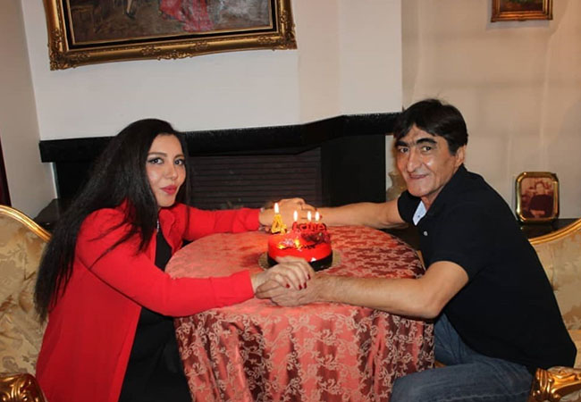 Naser Mohammadkhani and his wife