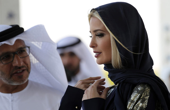 Ivanka Wears a Hijab in a UAE Mosque