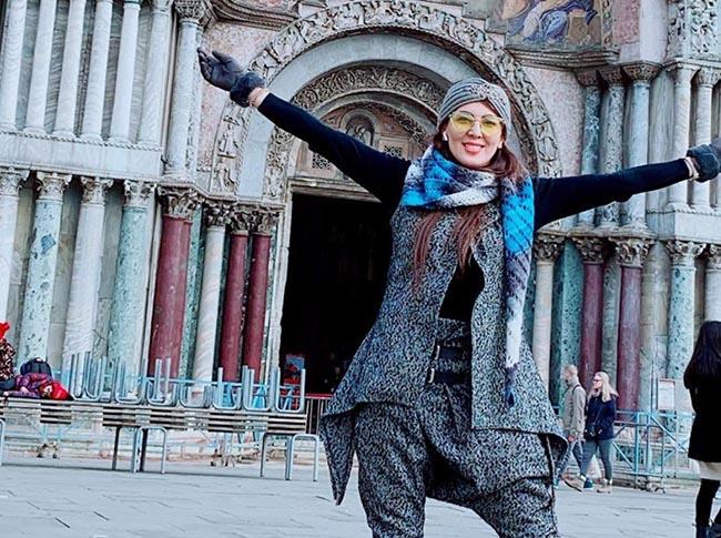 Leila Bolukat visiting in Italy