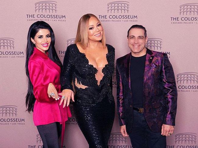 Manny Khoshbin, Leyla Milani at Mariah Carey concert